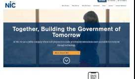 NIC: eGovernment Services for Federal, State and Local Government