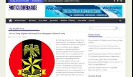 Nigeria Army – Politics Governance