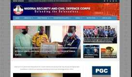 Nigeria Security and Civil Defence Corps    Official Website - NSCDC ...