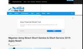 Nigerian Army Direct Short Service & Short Service 2019: Apply Now ...
