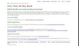 NLS: BARD (Braille and Audio Reading Download)