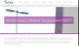 Non-Emergency Medical Transportation - NEMT Services - MTM Inc