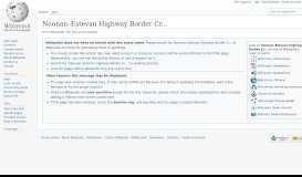 Noonan–Estevan Highway Border Crossing - Wikipedia
