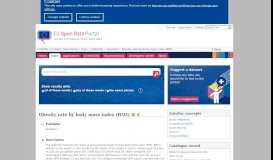 Obesity rate by body mass index (BMI) - Datasets - EU Open Data Portal