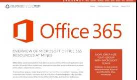 Office 365 - Computing, Communications, and Information Technologies