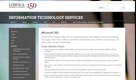 Office 365: Information Technology Services: Loyola University Chicago