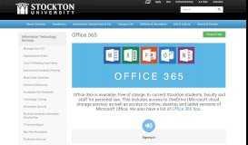 Office 365 - Information Technology Services   Stockton University