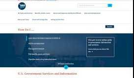 Official Guide to Government Information and Services | USAGov