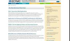 On-line Services - ECFMG