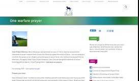 One warfare prayer