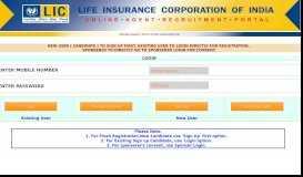 Online Agent Portal - Agency Registration Portal - LIC of India