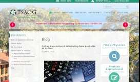 Online Appointment Scheduling Now Available at TSAOG   The San ...