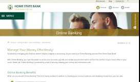 Online Banking | 24/7 Access to Your Accounts | Home State Bank