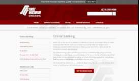 Online Banking - First Missouri State Bank