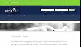 Online & Mobile Banking | Home Federal Savings Bank