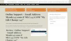 Online Support + Email Address Mymlc247.com & MLC247 ...