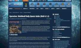 Operation: Shieldwall Daily Quests Guide (WoD 6.1.2) - World of ...