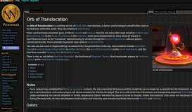 Orb of Translocation - Wowpedia - Your wiki guide to the World of ...