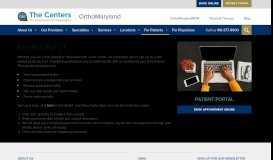 OrthoMaryland Patient Portal