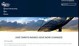Our tariffs names have now changed - bigblu