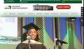 Pan Africa Christian University - Home