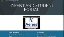 PARENT AND STUDENT PORTAL - Google Sites