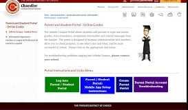 Parent and Student Portal - Online Grades / Infinite Campus - Student ...
