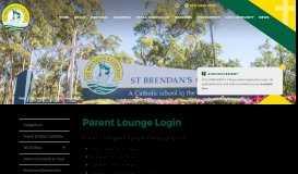 Parent Lounge Login | St Brendan's College
