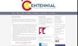 Parent Portal - Centennial - A School for Expeditionary Learning