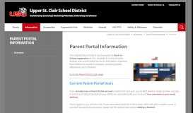 Parent Portal Information / Overview - Upper St. Clair School District