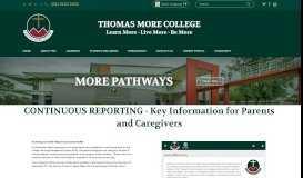 Parent Portal - Key Information - Thomas More College