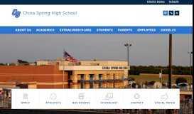 Parent Portal – Parents – China Spring High School