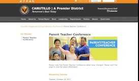 Parent Teacher Conference - Canutillo Independent School District