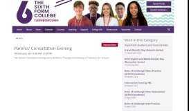 Parents' Consultation Evening - The Sixth Form College Farnborough