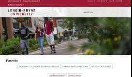 Parents - Lenoir-Rhyne University