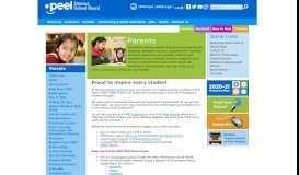Parents - Peel District School Board