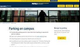 Parking On Campus - Northern Arizona University