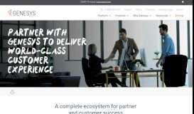 Partner Program Overview | Genesys