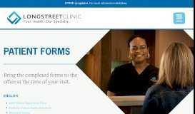 Patient Forms - Longstreet Clinic