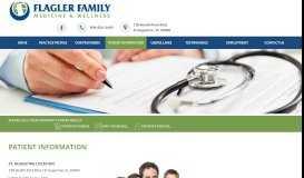 Patient Information – Flager Family Medicine - Flagler Family Medicine