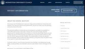 Patient Information - Midwestern University Clinics