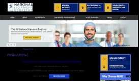 Patient Portal   ACL Surgery UK   National Ligament Registry NLR