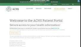 Patient Portal - Ammonoosuc Community Health Services