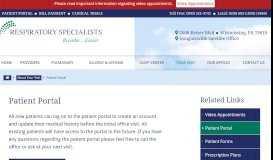 Patient Portal - Berks Schuylkill Respiratory Specialists
