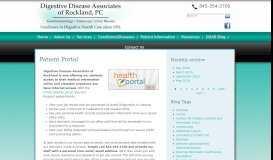 Patient Portal   Digestive Disease Associates of Rockland, PC