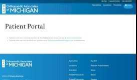 Patient Portal Instructions - Orthopaedic Surgeons - Grand Rapids, MI ...