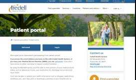 Patient portal   Iredell Health System - Statesville, NC