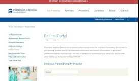 Patient Portal | Physicians Regional Medical Group