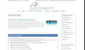 Patient Portal - Plano Orthopedic & Sports Medicine Center Plano ...