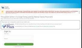 Patient Portal - Premier Family Physicians - Medfusion